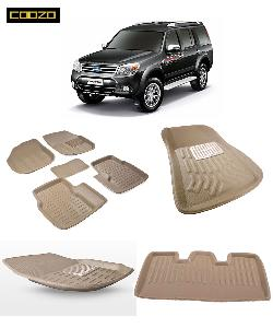 Coozo 3d Car Mat For Ford Endeavour Beige Color