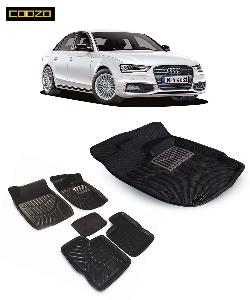 Coozo 3d Car Mat For Audi A4 Black Color