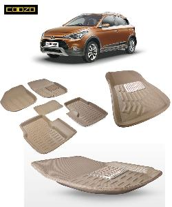 Coozo 3d Car Mat For Hyundai I20 Active Beige Color