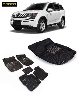 Coozo 3d Car Mat For Mahindra Xuv 500 With Dicky Black Color