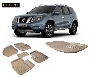 Coozo 3d Car Mat For Nissan Terrano Beige Color