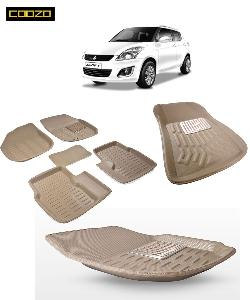 Coozo 3d Car Mat For Maruti Swift Beige Color