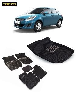 Coozo 3d Car Mat For Maruti Swift Dzire Black Color