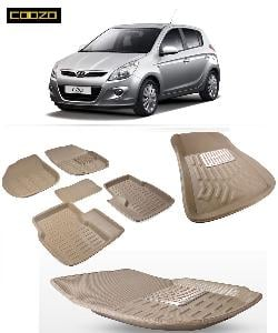 Coozo 3d Car Mat For Hyundai I20 Old Beige Color