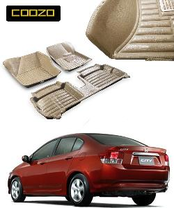 Coozo 5d Car Mat For Honda City I-Vtec 2009-2013 Beige Color