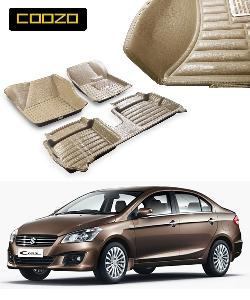 Coozo 5d Car Mat For Maruti Suzuki Ciaz Beige Color
