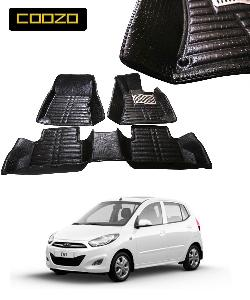 Coozo 5d Car Mat For Hyundai I10 Old Black Color