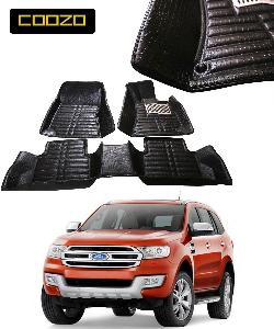 Coozo 5d Car Mat For Ford New Endeavour Black Color
