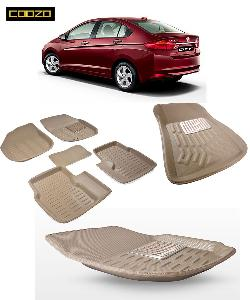 Coozo 3d Car Mat For Honda City I-Dtec Beige Color