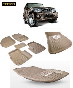 Coozo 3d Car Mat For Mahindra Bolero Beige Color