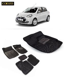 Coozo 3d Car Mat For Renault Pulse Black Color
