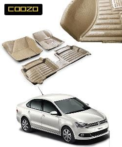 Coozo 5d Car Mat For Volkswagen Vento Beige Color