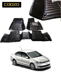 Coozo 5d Car Mat For Volkswagen Vento Black Color