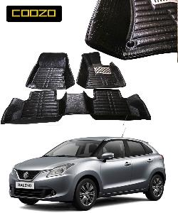 Coozo 5d Car Mat For New Maruti Suzuki Baleno Black Color
