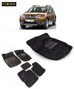 Coozo 3d Car Mat For Renault Duster Black Color