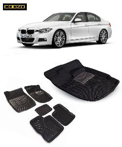 Coozo 3d Car Mat For Bmw 3 Series Black Color