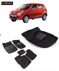 Coozo 3d Car Mat For Maruti Alto 800 Black Color