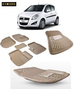 Coozo 3d Car Mat For Maruti Ritz Beige Color