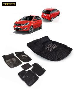 Coozo 3d Car Mat For Tata Bolt Black Color