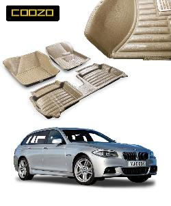 Coozo 5d Car Mat For Bmw 5 Series Beige Color
