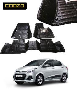 Buy Coozo 5d Car Mat For Hyundai Xcent Black Color Online In India
