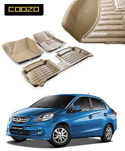 Coozo 5d Car Mat For Honda Amaze Beige Color