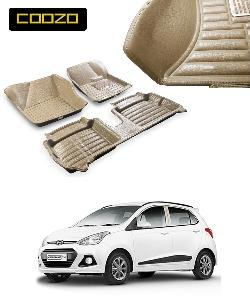 Coozo 5d Car Mat For Hyundai I10 Grand Beige Color