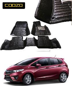 Coozo 5d Car Mat For New Honda Jazz Black Color