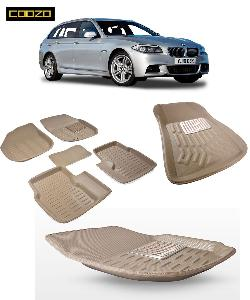 Coozo 3d Car Mat For Bmw 5 Series Beige Color