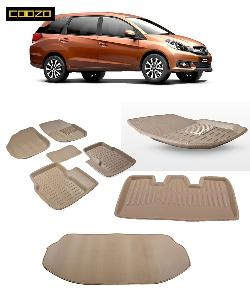 Coozo 3d Car Mat For Honda Mobilio Beige Color
