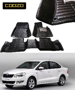 Buy Coozo 5d Car Mat For Skoda Rapid Black Color Online In India At