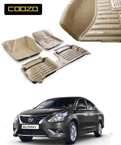 Coozo 5d Car Mat For Nissan Sunny Beige Color