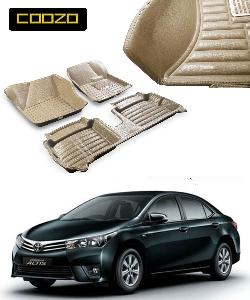 Coozo 5d Car Mat For Toyoto Corolla Altis Beige Color