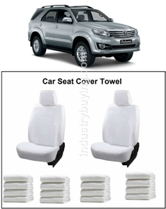 Oscar Toyota Fortuner Car Seat Cover White Aut-Sn-4117