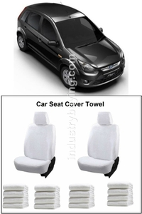 Oscar Ford Figo Car Seat Cover White Aut-Sn-4130