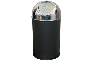 King International Dustbin Black 18