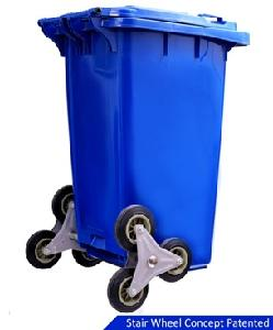 Maitri Environmental 240 L Blue 6 Wheeled Bin