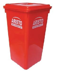 Aristo Storage Waste Bin With Flat Lid 80 Red