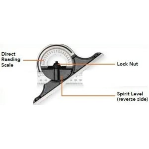 Groz Protractor Head For Combination Square Set Ph/Csq