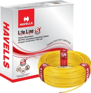 Havells Life Line 6 Sq. Mm Length 90 M Fr Pvc Insulated Cable Yellow Whffdnya16x0