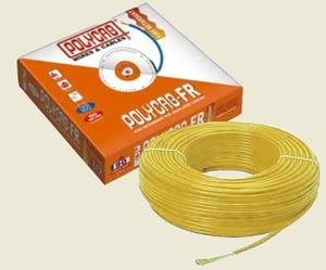 Polycab (Length 90 M) Fr Pvc Insulated Cable Yellow 1.5 Sq.Mm
