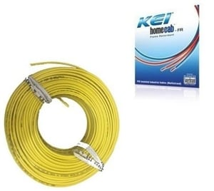 Kei 1 Sq.Mm 14 A 90 M Flame Retardant Cable Yellow