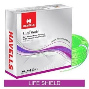 Havells Life Shield Halogen Retardant Cable Green 90 M 1 Sq.Mm