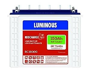 Luminous Tubular Battery 150ah Model : Rc18000st (36 Months* Warranty)