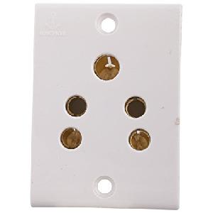 Anchor 2 In 1 Socket White 6 Amp 14304