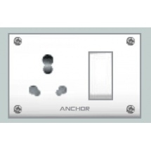 Anchor Uni. S.S.Comb.(4 Fixing Holes) Socket With Switch 50665