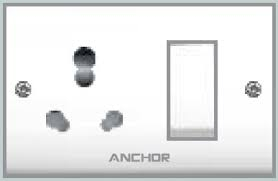 Anchor Uni. S.S.Comb.(2 Fixing Holes) Socket With Switch 50869
