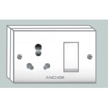Anchor S.S.Combinedjbbox(2fixingholes) Socket With Switch