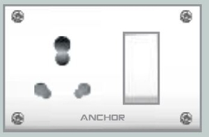 Anchor Uni. S.S.Comb.(4 Fixing Holes) Socket With Switch 38808db