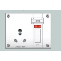 Anchor Neo Capton 5-In-1 (4 Fixing Holes) Socket With Switch 4522